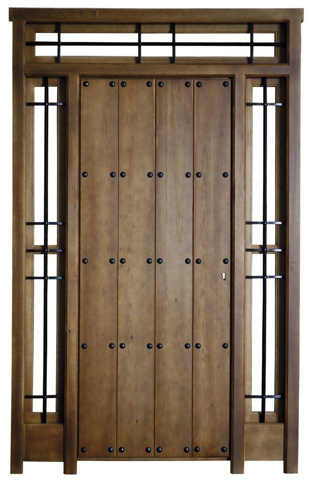 Puertas de madera r stica para exterior carpinter a - Puertas rusticas de madera ...