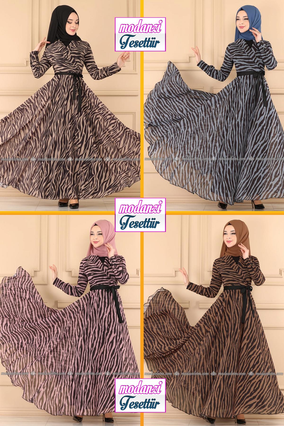 Modaselvim Elbise Modelleri 2020 29 Moda Selvim Yeni Sezon Tesettur Elbise Modelleri 2020 Kadin Kiyafetleri Moda Stilleri The Dress