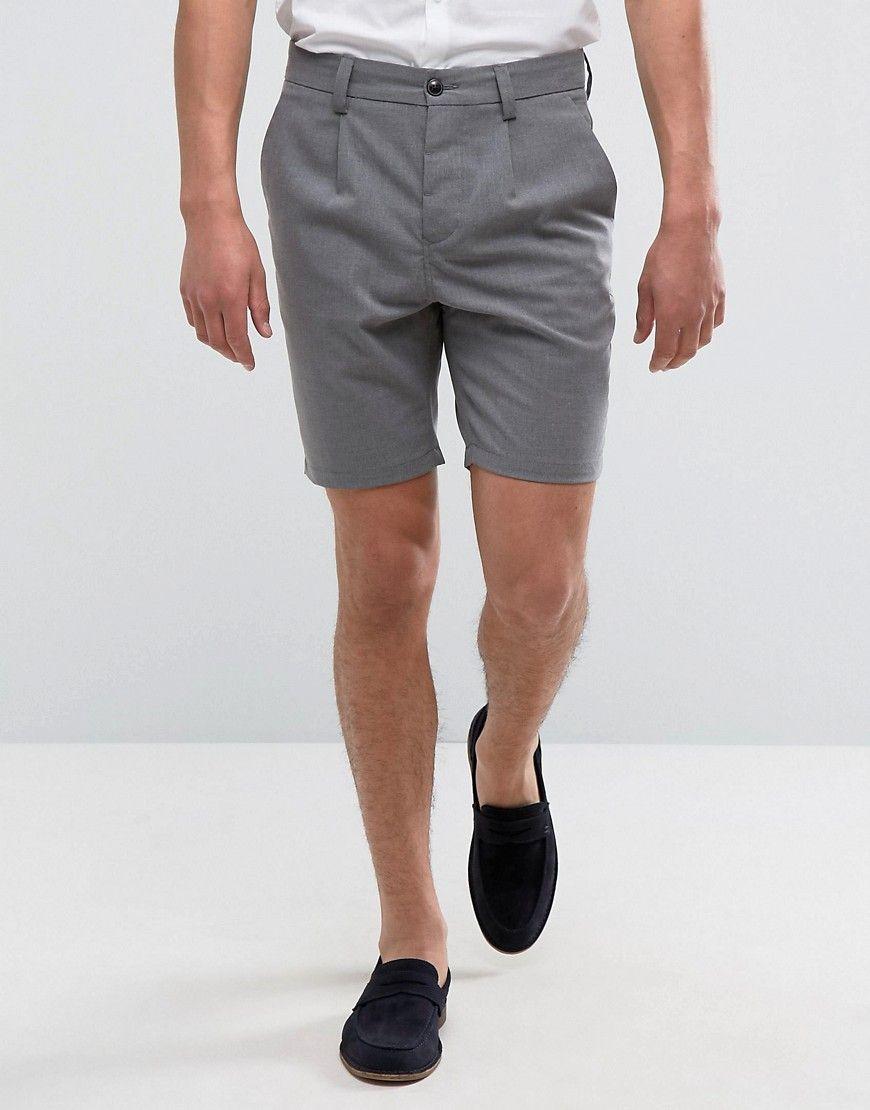 bb2a91317 Jack   Jones Premium Skinny Tailored Shorts - Gray