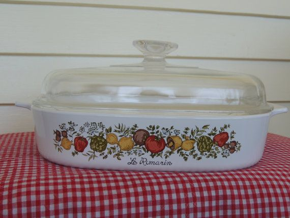 Pyrex /Corning Ware Spice of Life A-10-B by RosieTheRepurposer