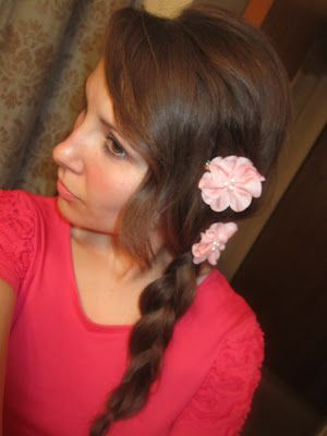 Flowers add a lot to a simple braid.