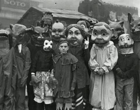 No, the creepy masks definitely aren't creepy. Not at all.