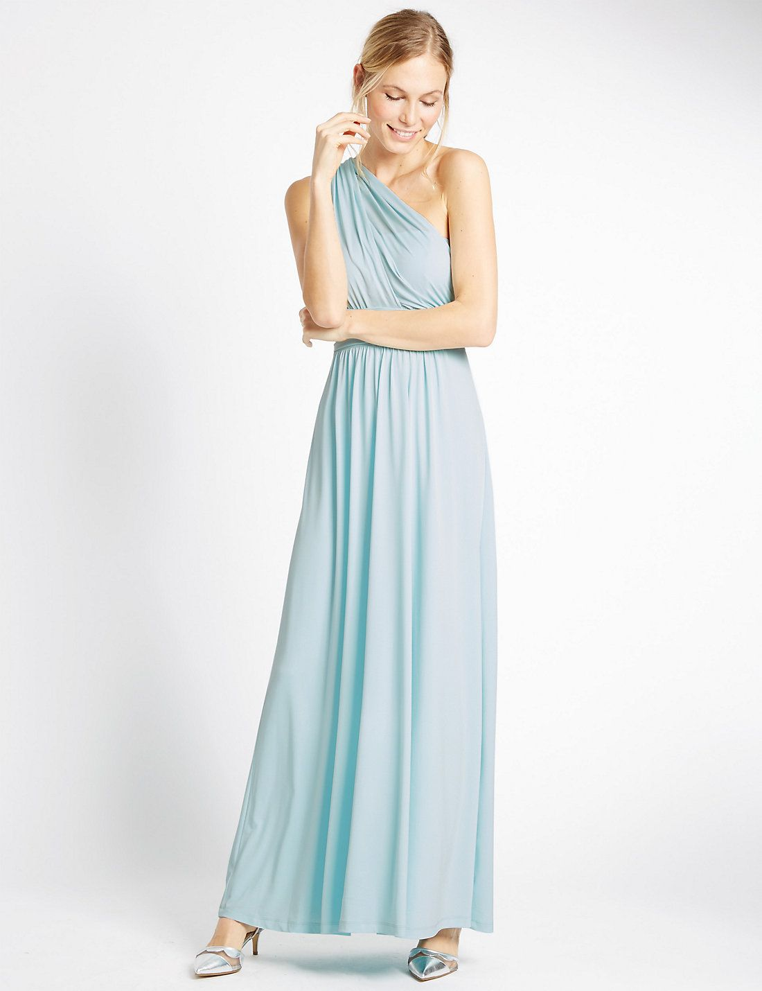 Multiway Strap Maxi Dress in Duck Egg   Bridesmaid Dresses   Pinterest