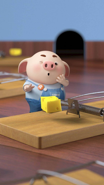 Tuyển tập những hình nền lợn hồng đáng yêu dành cho điện thoại