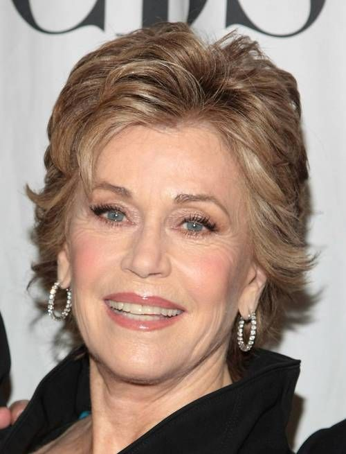 Jane Fonda wearing neutral (as opposed to colourful) makeup, looking ...