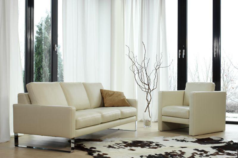Weißes Sofa mit Fell * Ideen fürs Wohnzimmer - wohnzimmereinrichtung