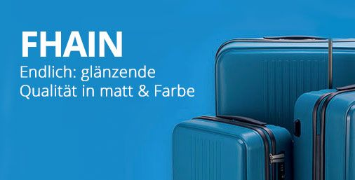 """✈✈✈ F-HAIN ✈✈✈ Hier gibt es die stylischen Trolleys aus der Serie """"F-Hain"""" von Hauptstadtkoffer. Die Koffer aus robuster Hartschale gibt es in den knalligsten Farben!"""
