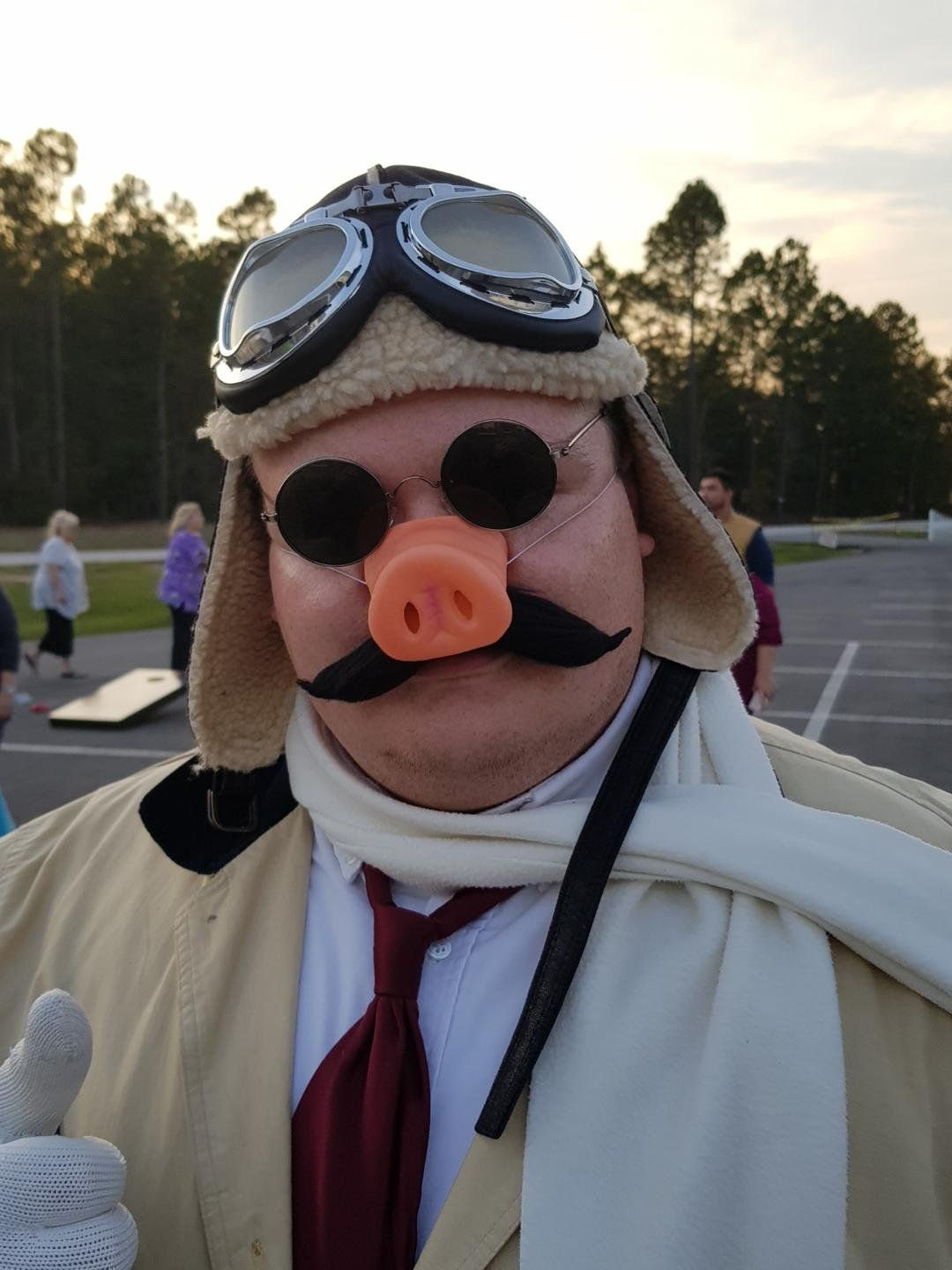 The Crimson Pig himself! Porco Rosso! Halloween costume