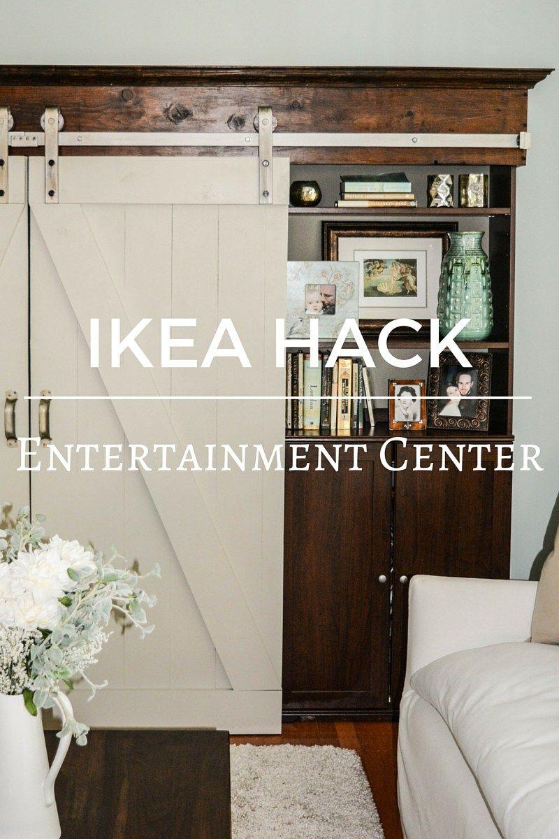 Ikea Hack Barn Door Entertainment Center My Creative Happy