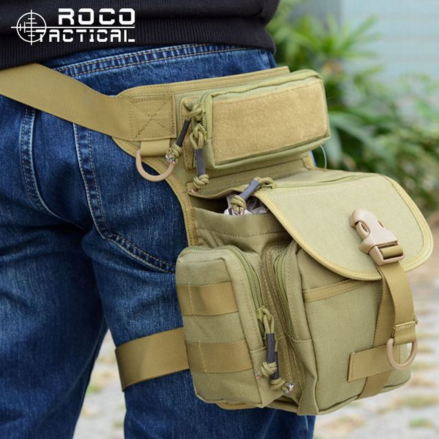US Men Multifunction Outdoor Leg Bag Utility Thigh Pack Fanny Hiking Motorcycle
