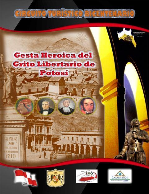 """Portada del Libro: """"Gesta Heroica del Grito Libertario de Potosí"""""""