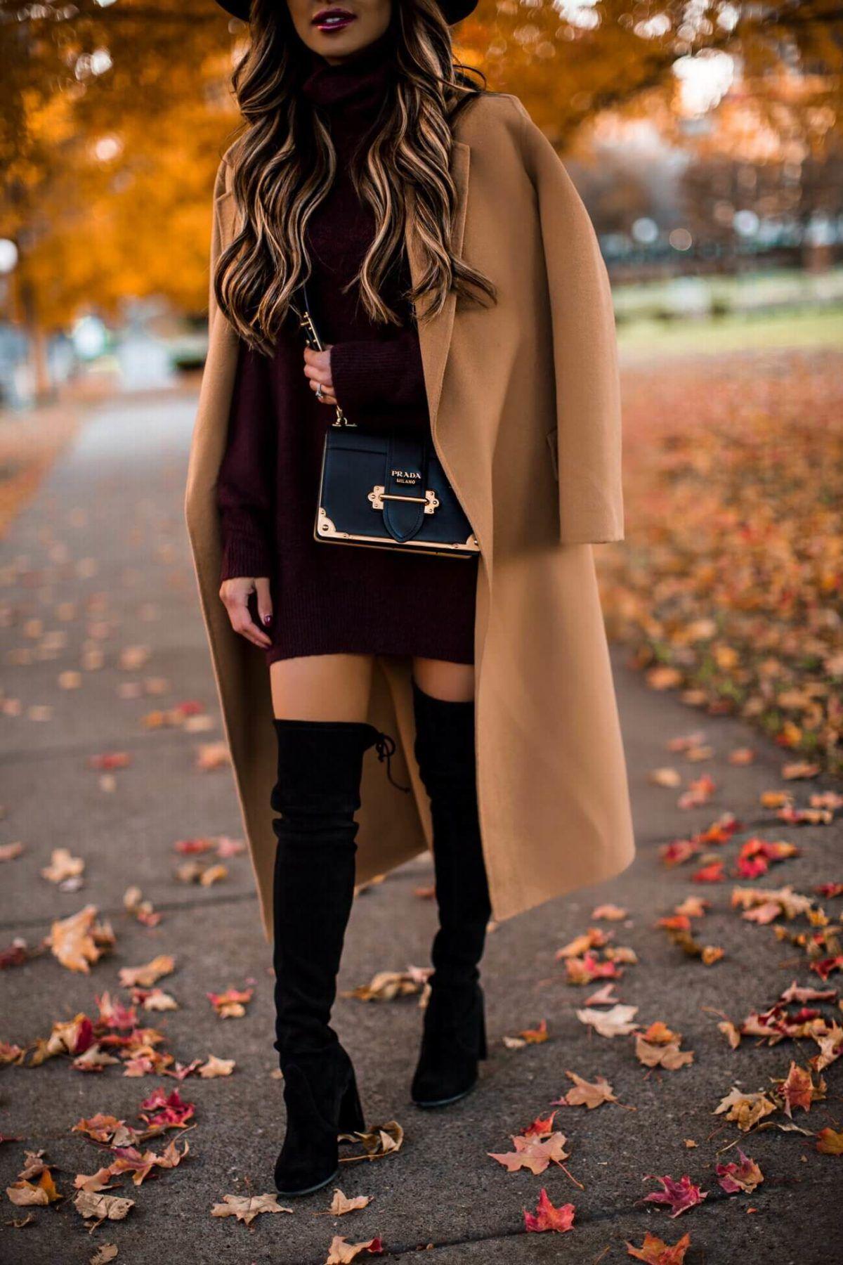 Fashion Blogger Mia Mia Mine Wearing Stuart Wetizman Over The Knee