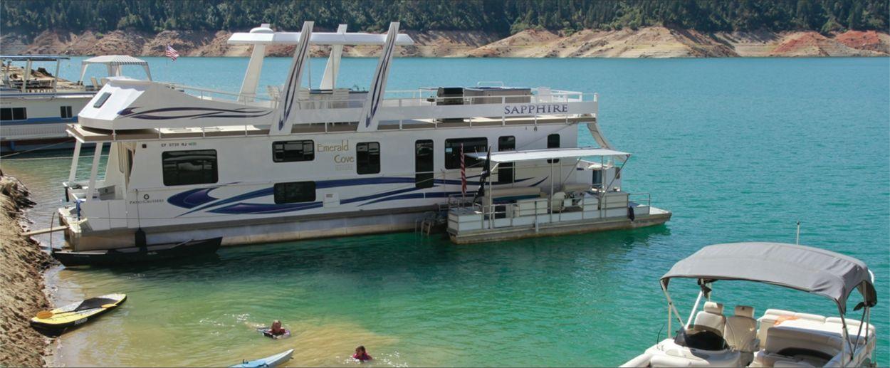 Bullards bar reservoir and emerald cove marina houseboat
