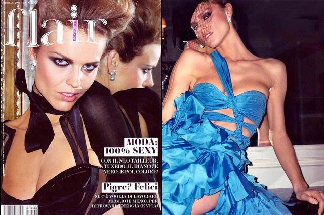 "flair February 2005 ""eva 8 eva"" Photo・Terry Richardson Model・Eva Herzigova"
