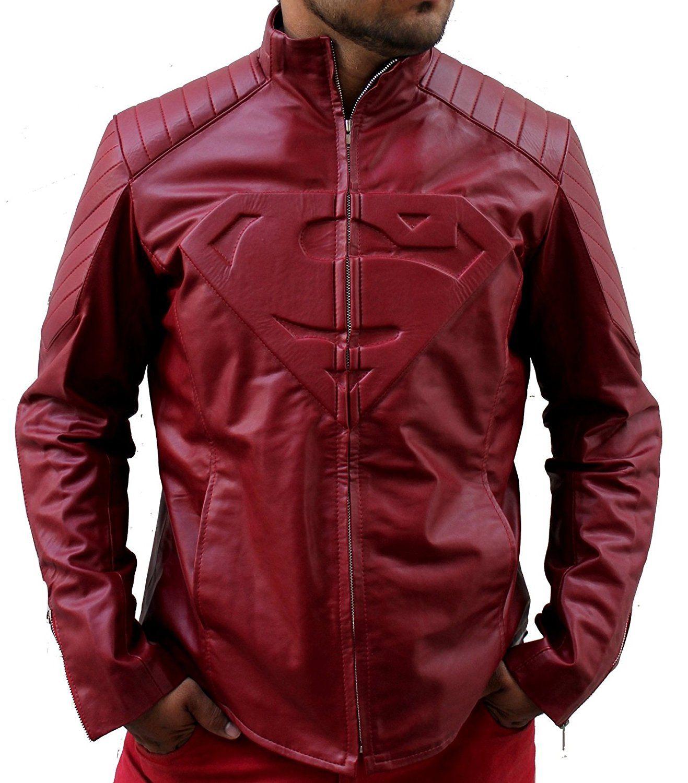 Hollywood Jacket Superman Smallville Clark Kent Maroon