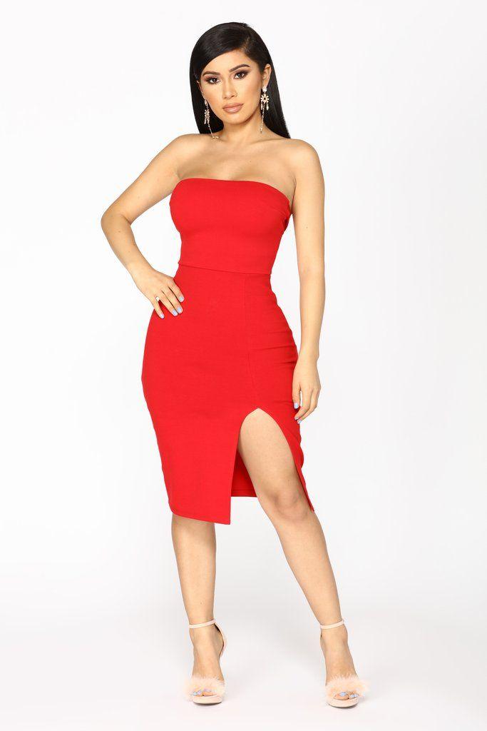 Brady Tube Dress - Red In 2019  Fashion Nova  Dresses -9274