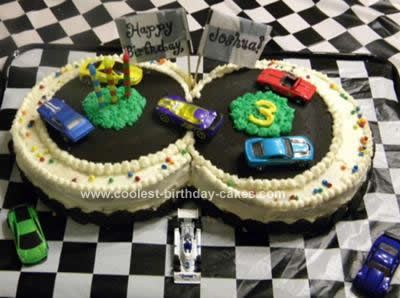 Easy Race Car Party Cakes   Coolest Race Car Track Cake 92