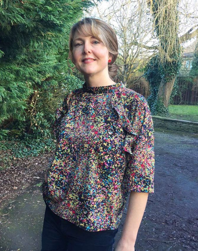 Ruffle Top – FREE single size sewing pattern – Sew Different ...