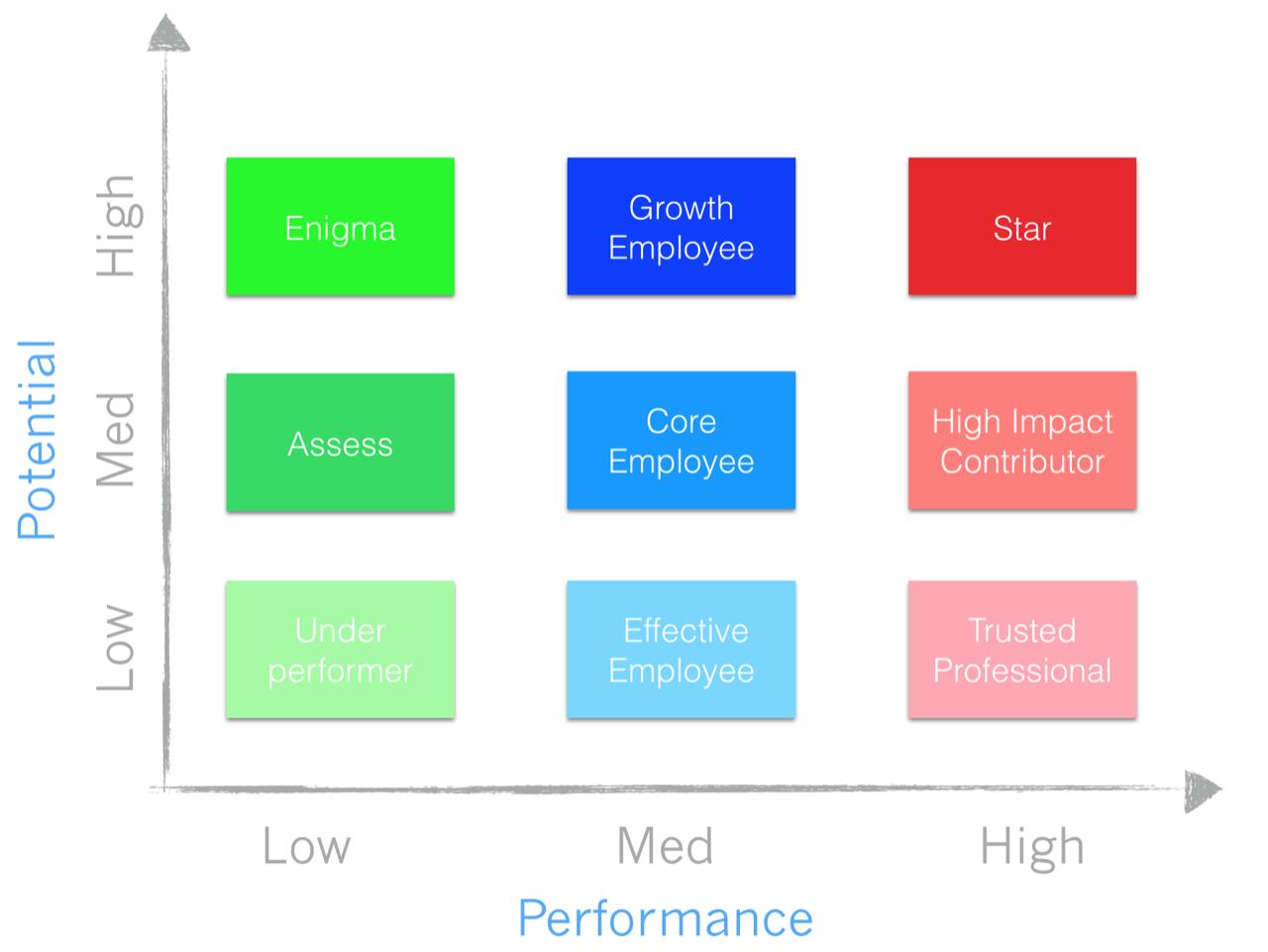 startup best practices 11 the 9 box matrix talent model