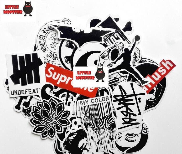 Mixed Graffiti Supreme Sticker Waterproof Home Decor Doodle Laptop Motorcycle Travel Case Decal Car Accessories Car Sticker