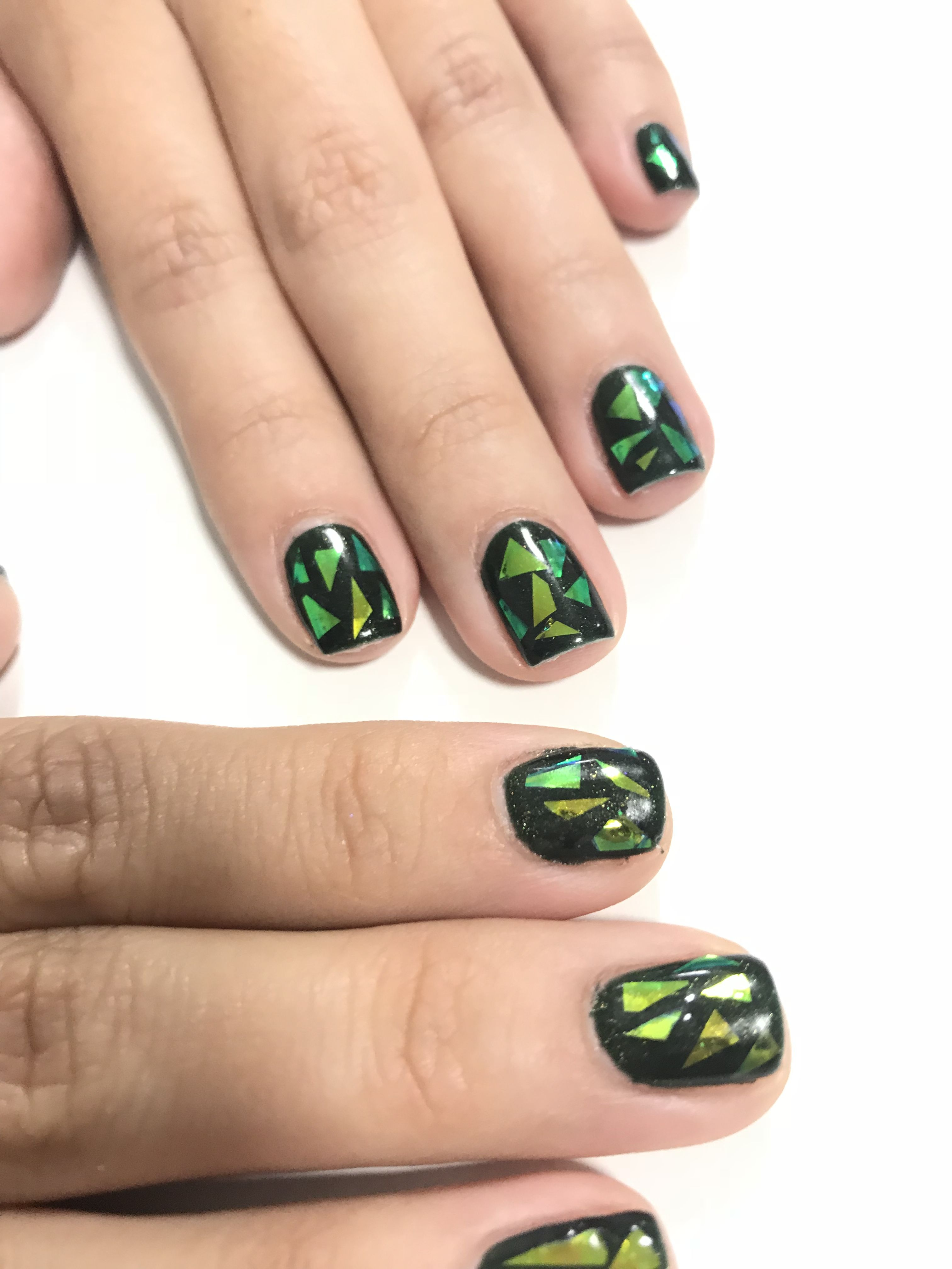 Shattered Glass Nail Art By Diane Diaz Cnd Shellac Manicure Nail