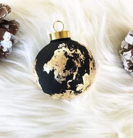 Black Christmas Tree With Gold Ornaments 56  Ideas #blackchristmastreeideas