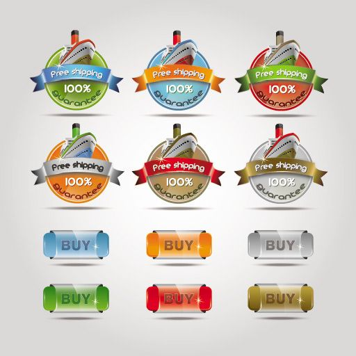 Shipping label vector