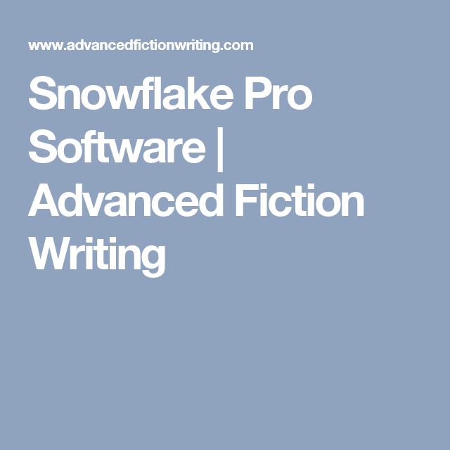 snowflake pro software  fiction writing writing groups