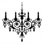 Chandelier thinking with out the candles painting brain clip art of baroque chandelier silhouette search clipart illustration posters drawings and eps vector graphics images mozeypictures Choice Image