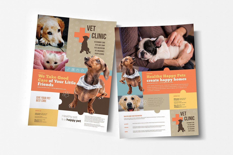 Vet Clinic Templates Pack Pet Care Business Poster Template Vet Clinics
