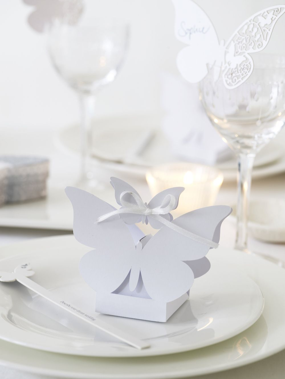 Butterfly Favour Box and guest card # would include some yellow ...
