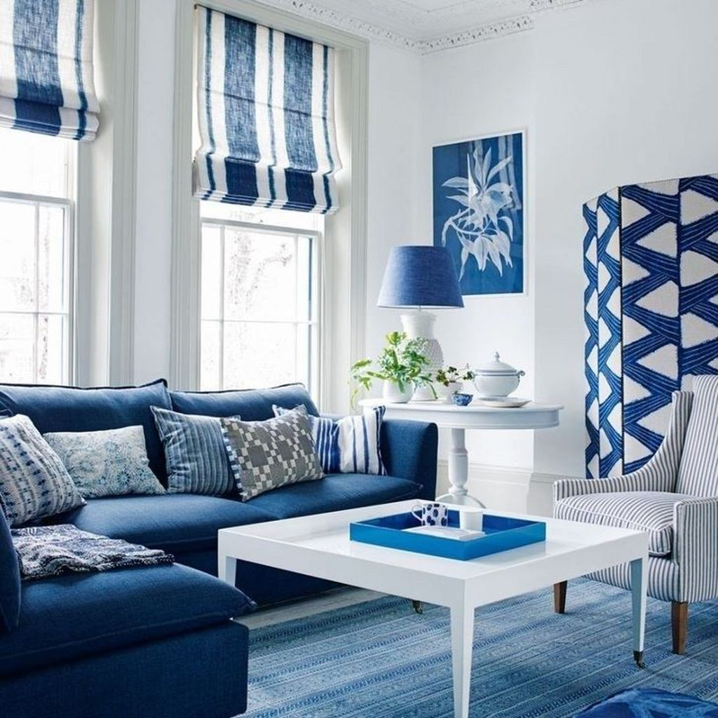 46 Affordable Blue And White Home Decor Ideas Best For Spring