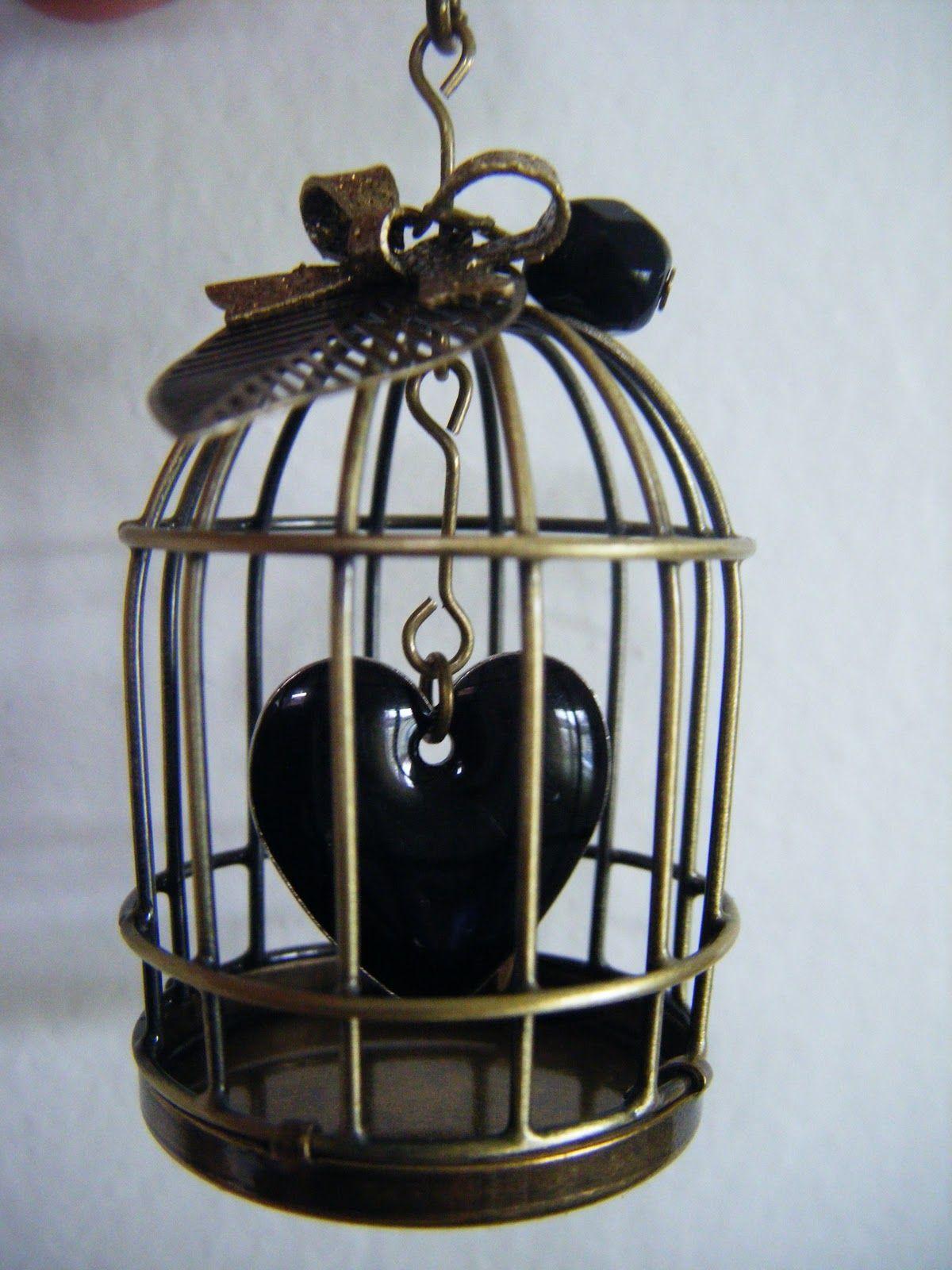 Coeur en cage noir/bronze
