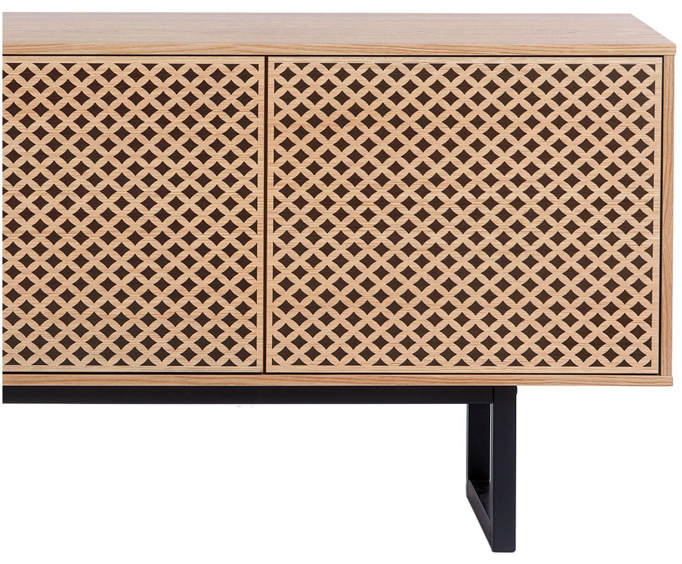 Credenza Di Design Con Finitura In Quercia Camden Westwingnow Eiche Holz Sideboard Furnier