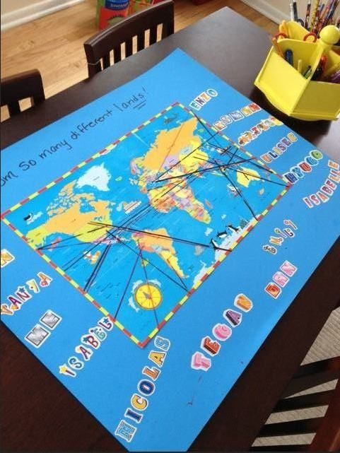 Harmony day world map activity | Early childhood education