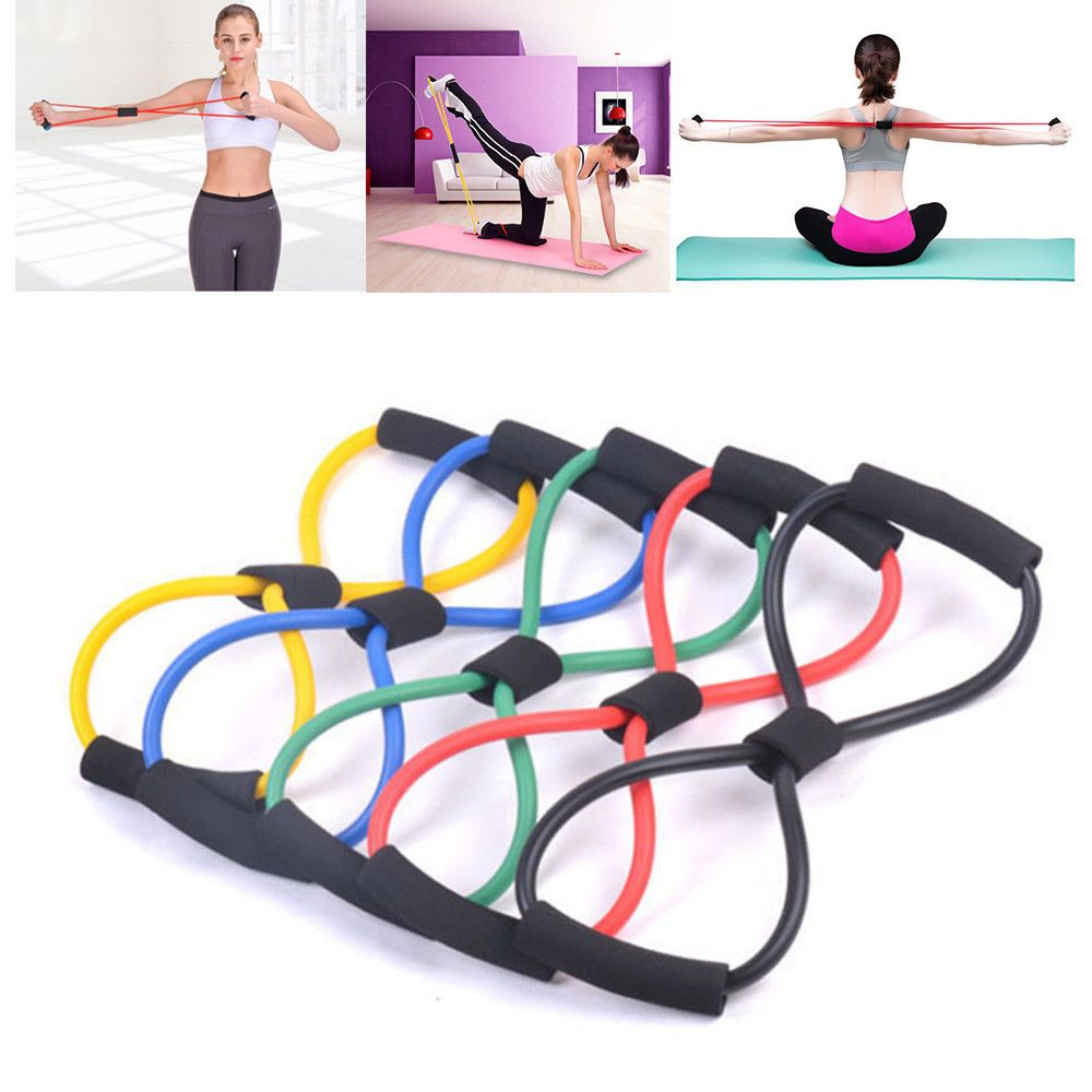 Yoga Resistance Band Stretch Loop Gym-Fitness Exercise Elastic Rubber Rope Strap