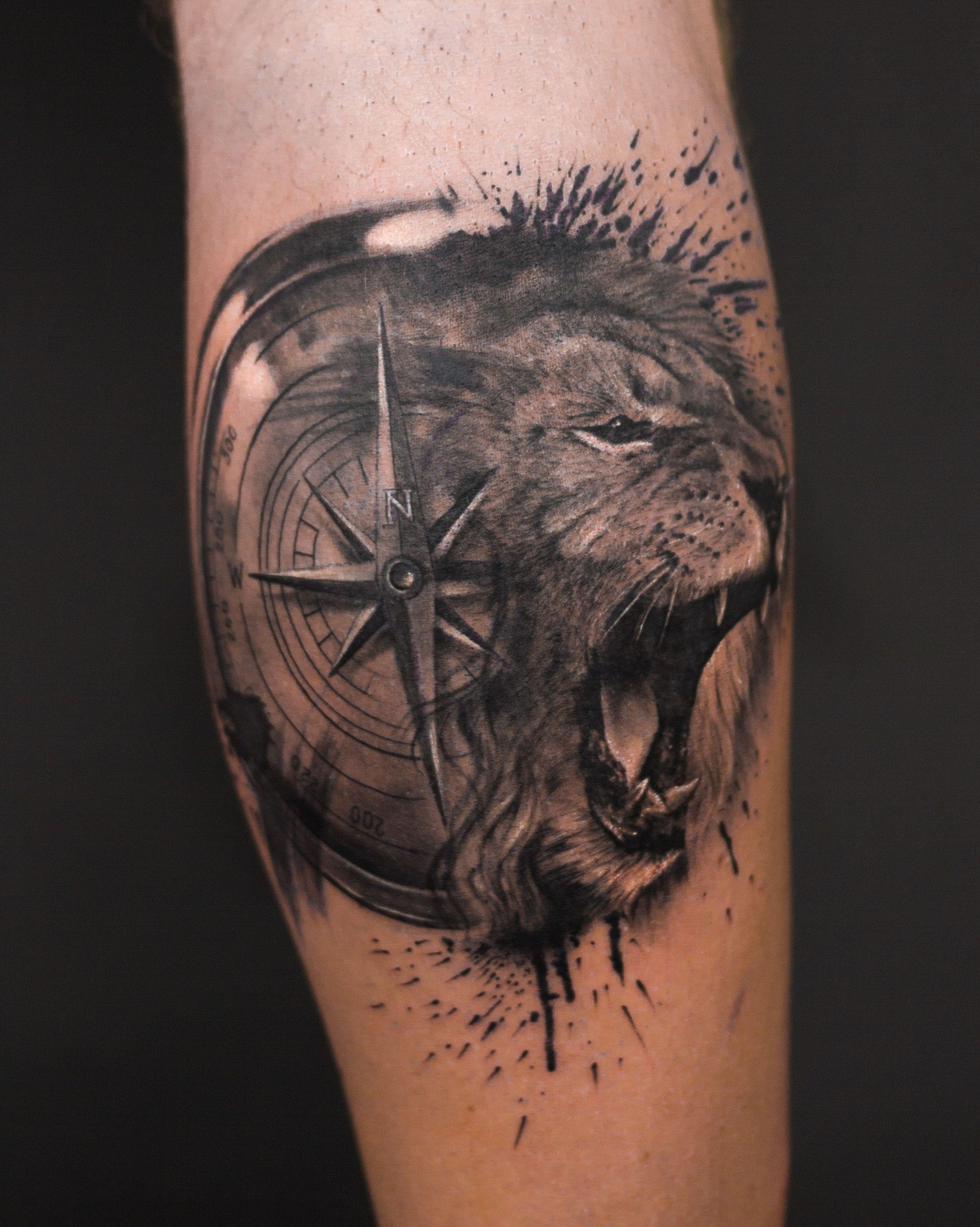 Tiger Face Tattoo, Lion Tattoo