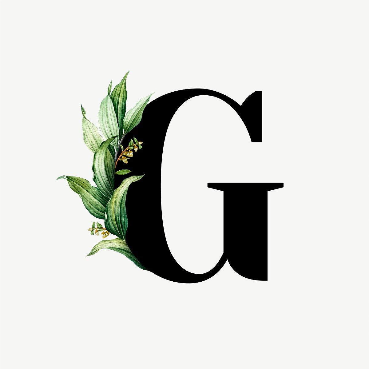 Download Premium Vector Of Botanical Capital Letter G