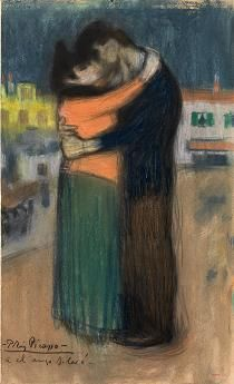 The Embrace-Picasso.  I gained a true appreciation for Pablo Picasso's work when I visited the Picasso museum in Barcelona Spain.