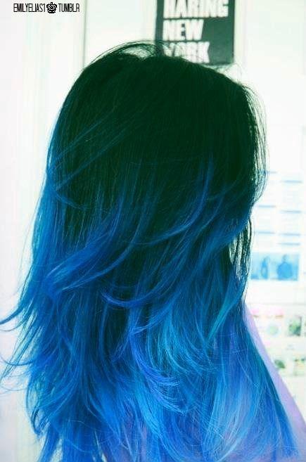 Girls With Blue Hair Hair Styles Blue Ombre Hair Dyed Hair