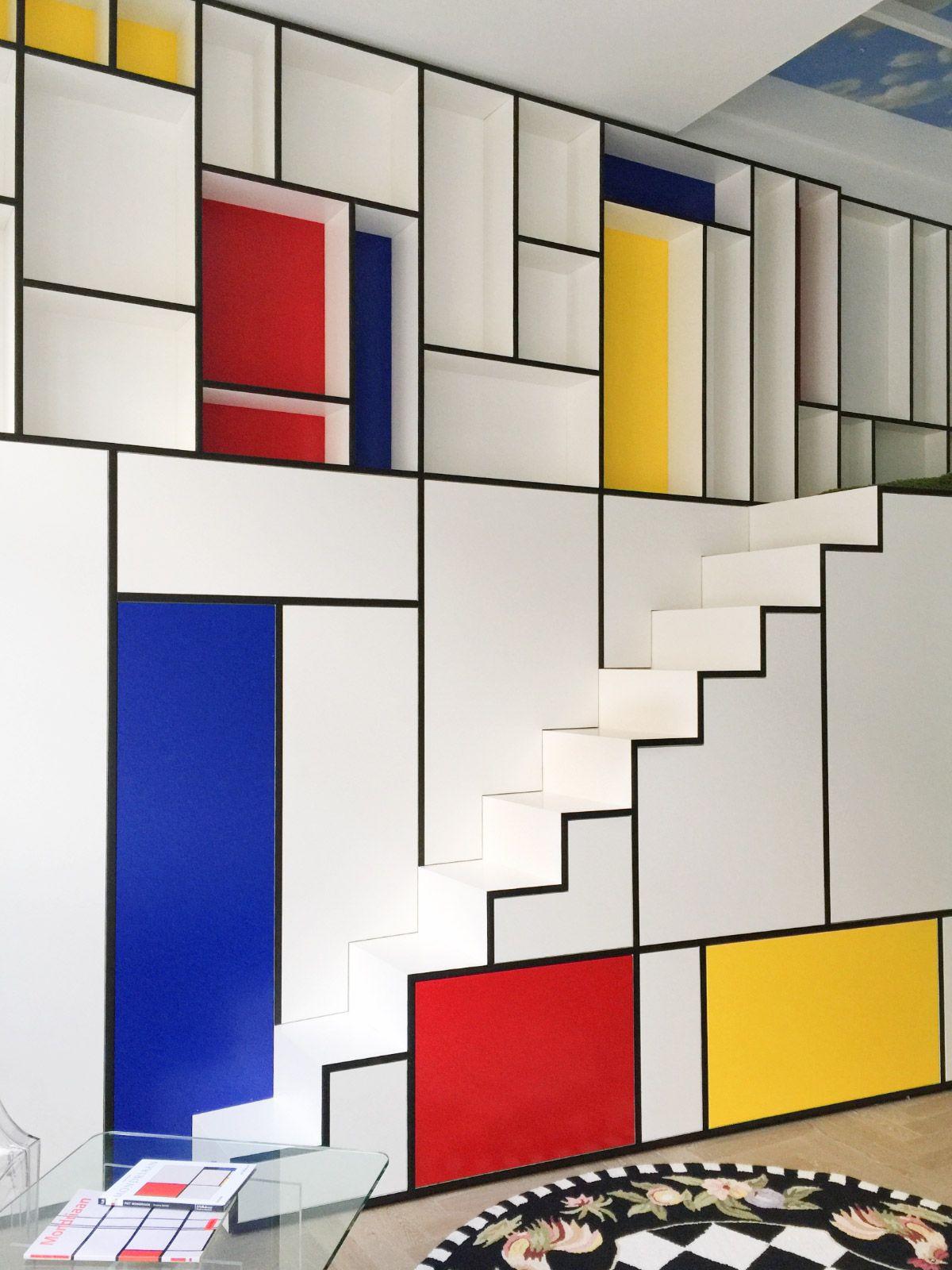 Piet Mondrian Inspired Interior Design To Give Your Home The De Stijl Flair Staircase Design Bauhaus Interior Mondrian