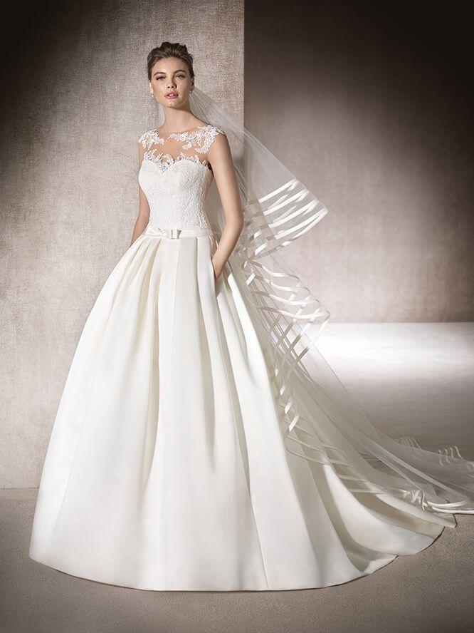 vestido de novia con escote corazon - myrna | vestidos novia