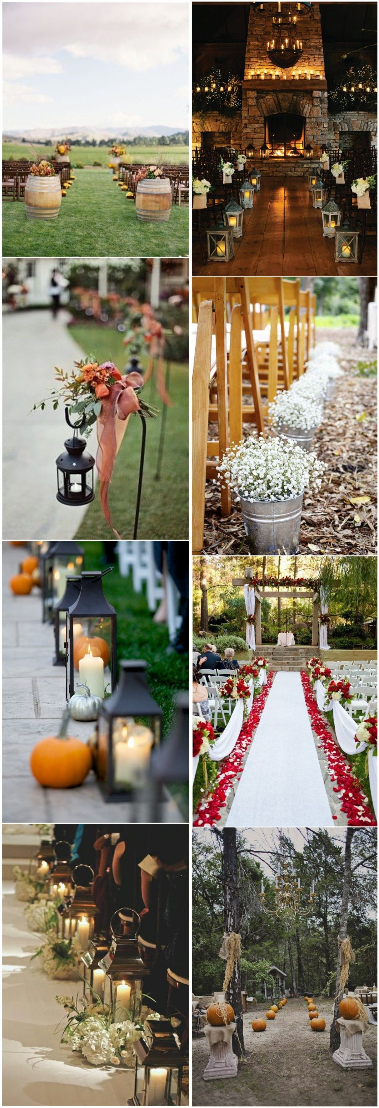 Fall Weddings 29 Awesome Wedding Aisle Decorations For Fall