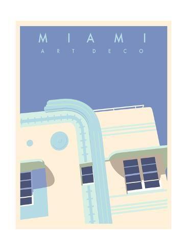 'Art Deco-Miami' Art Print - Richard Weiss | Art.com