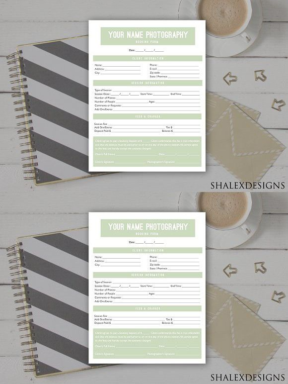 Client Booking Form Template. Stationery Templates