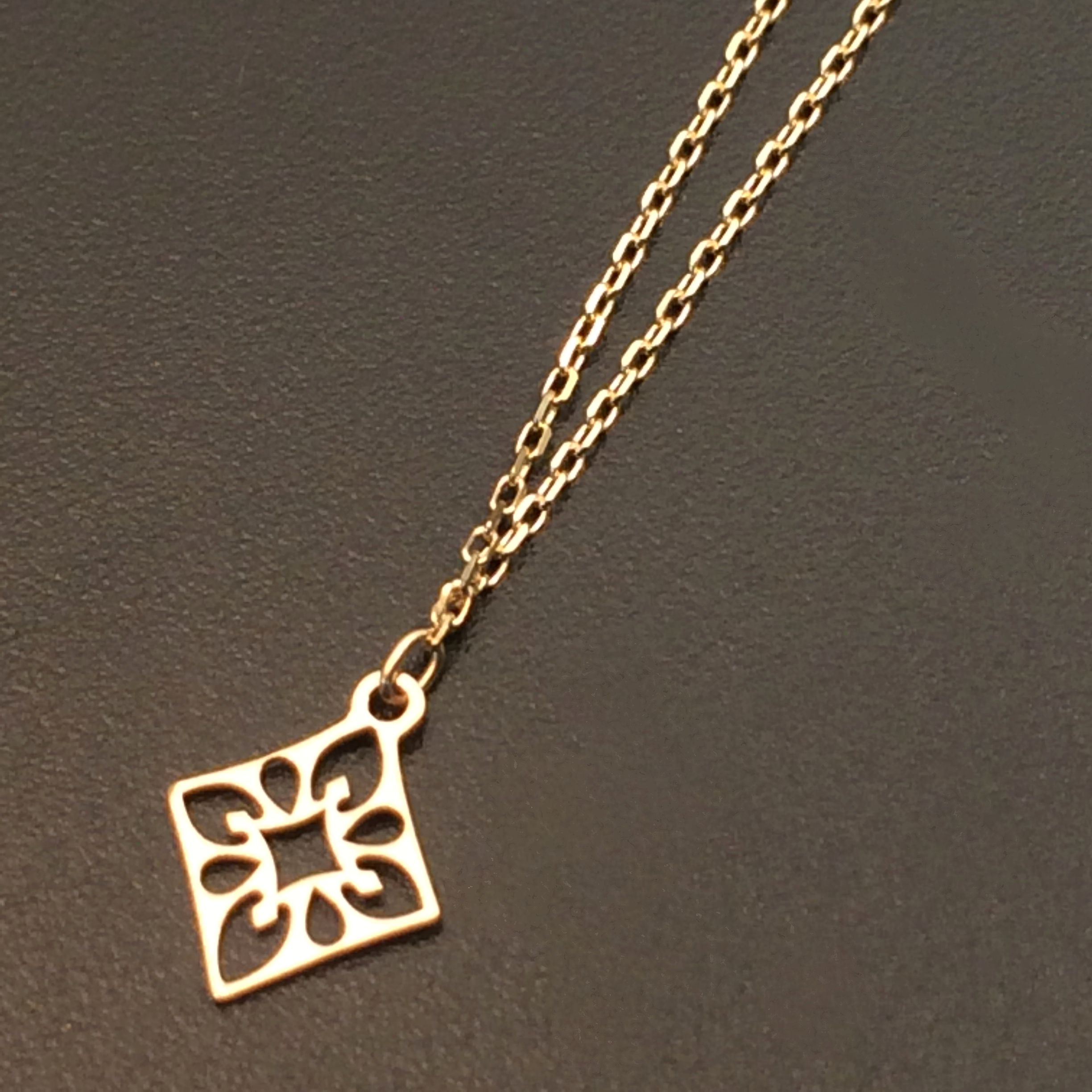k10 solid gold dainty necklace delicate necklace everyday jewelry minimalist jewelry $120.00