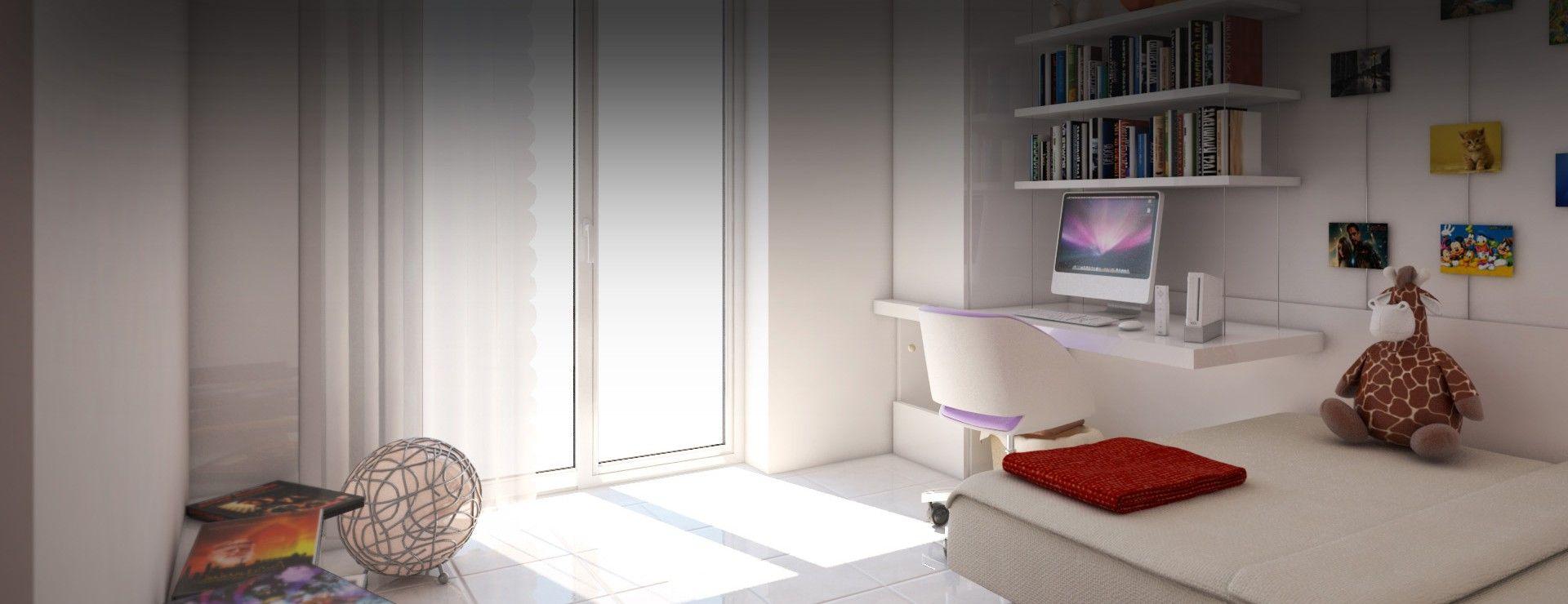 Progetto camera da letto singola progetto e modello 3d federico colarossi render stefano - Progetto camera da letto ...