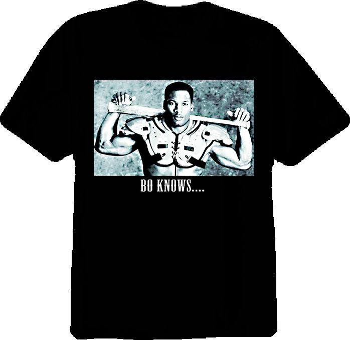 $17.99 bo knows bo jackson black shirt in Size Large