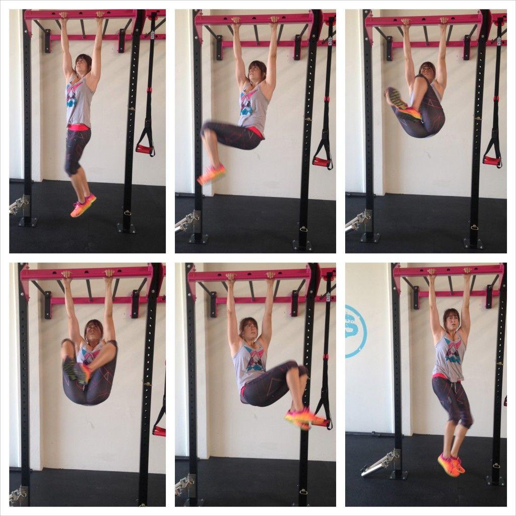 Hanging knee raises with medicine ball - Hanging Knee Tuck Circles