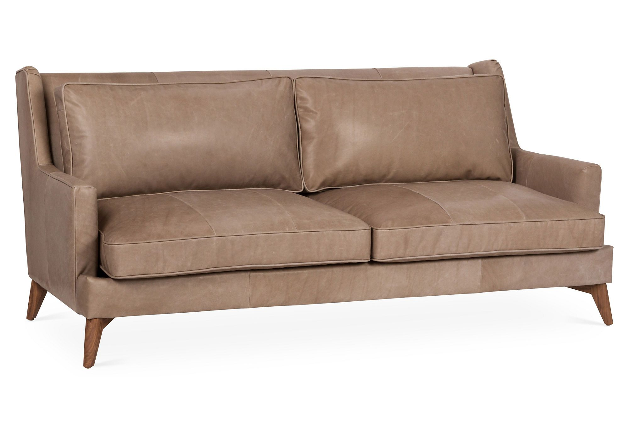 "Beverlywood 83"" Sofa, Pewter Leather 